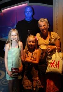 Vi mødte en blå mand efter showet (og Gitte tog hele vejen til Vegas for at handle i H&M)